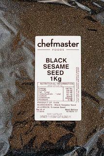 SESAME SEEDS BLACK 1KG  CHEFMASTER
