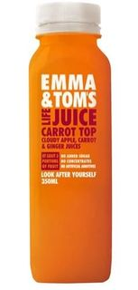 JUICE CARROT TOP 350ML (10) EMMA & TOM