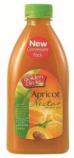 APRICOT NECTAR 1LTR (12) * GOLDEN CIRCLE