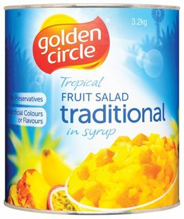 FRUIT SALAD A10 SYRUP (3) GOLDEN CIRCLE