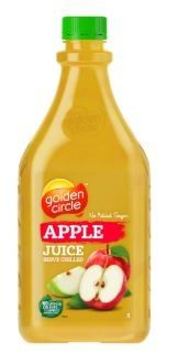 JUICE APPLE 2LTR PET (6) GOLDEN CIRCLE