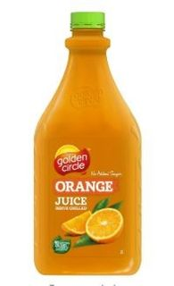 JUICE ORANGE 2LTR PET (6) GOLDEN CIRCLE