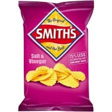 CHIPS SMITHS  SALT & VINEGAR 45GM (18)*