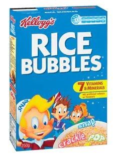 RICE BUBBLES 705GM (12) KELLOGG'S