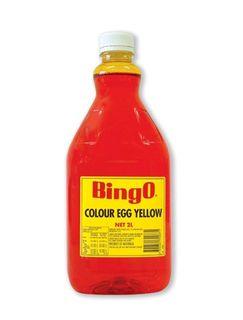 COLOURING EGG YELLOW 2LTR (6) BINGO