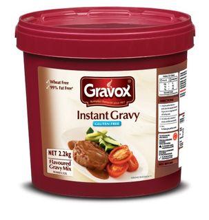GRAVY INSTANT GLUTEN FREE 2.2KG GRAVOX