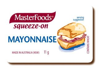 MAYONNAISE SQUEEZE MASTERFOOD 11GM (100)