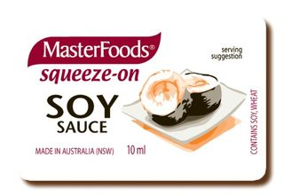SAUCE SOY P/C 10ML (100) MASTERFOODS