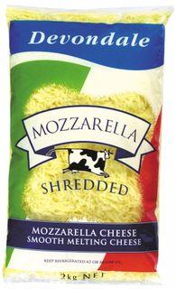 CHEESE MOZZARELLA SHREDDED 2KG (3 D/DALE