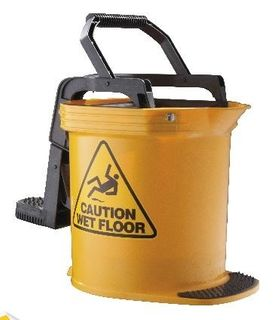 BUCKET CONTRATOR WRINGER 15LTR YELLOW *