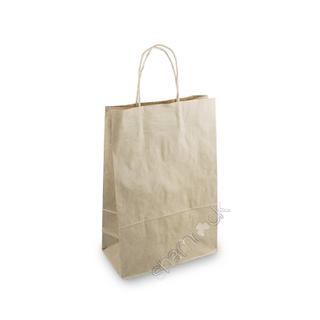 BAG BROWN TWIST HANDLE MED #18 (250)*