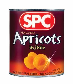 APRICOT HALVES NAT JUICE A10 (3) SPC