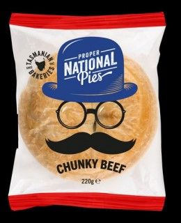 PIES BEEF CHUNKY 220GM (12)* 074 CHEFS