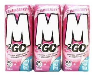M2GO MILK STRAWBERRY 250ML (24) *