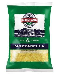 CHEESE SHREDDED MOZZARELLA 2KG (6) MAINL