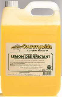 DISINFECTANT LEMON  5LITRE (4) * C/WIDE