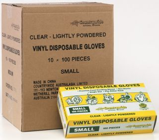DISPOSABLE GLOVES SML  (100)X (10)*
