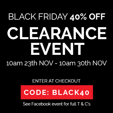 Black Friday 40% OFF Clearance Event