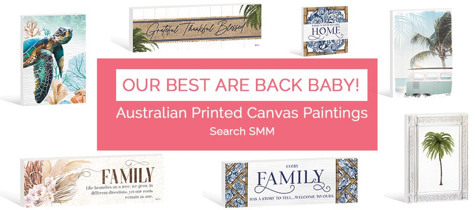NEW Australian Printed Canvases