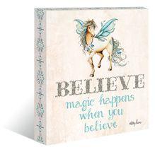 "Canvas ""13x15"" Pegasus BELIEVE"