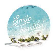 Sentiment Plaque 13x15 3D Bahamas SMILE