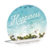 Sentiment Plaque 13x15 3D Bahamas HAPPINESS