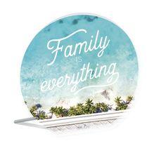 Sentiment Plaque 13x15 3D Bahamas FAMILY