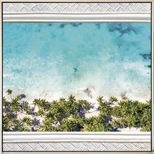 Shadow Framed Painting 100x100 Bahamas BEACH
