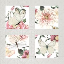 Painting 55x55 Collage Vintage Floral