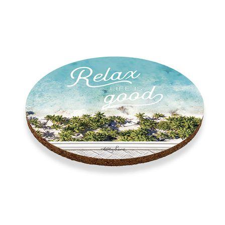 Coaster Round S/6 10cm Bahamas BA