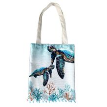 Tote Bag 34x47 Green Turtle