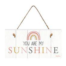 Hanging Plaque 15x30 Rainbow SUNSHINE