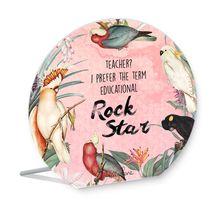 Sentiment Plaque 13x15 Teachers ROCK STAR