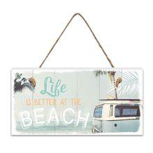 Hanging Plaque 15x30 3D Wanderlust BEACH