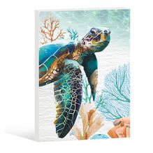 Stretched Canvas 60x90cm GREEN TURTLE