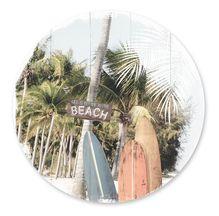 Placemat Round S/6 33cm Wanderlust BEACH