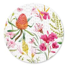 Placemat Round S/6 33cm Blossom FLORAL