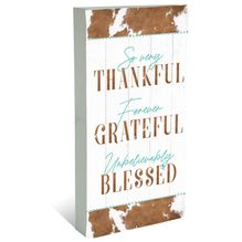 Plaque Block 40x80 Country THANKFUL