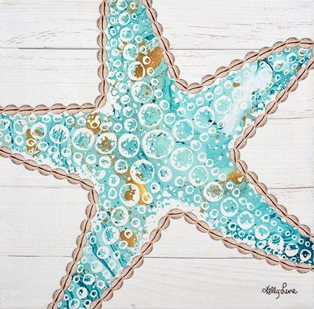 Canvas 20x20 Reef STARFISH