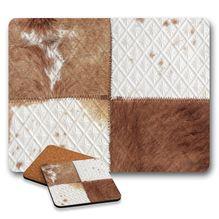 Cork Placemat & Coaster Set of 6 SOUL