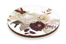 Coaster Round S/6 10cm Natives RED ROSE