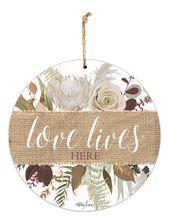 Hanging Tin Sign 30cm Natives LOVE LIVES