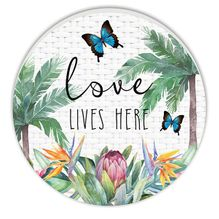 Round Timber Wall Art 60cm Fiesta LOVE