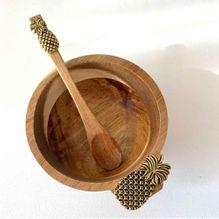Dip Bowl & Spoon Set 15x11x6 PINEAPPLE