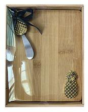 Board & Knife Set 24x19x3  PINEAPPLE
