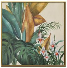 Shadow Framed Ptg 40X40 ORCHIDS
