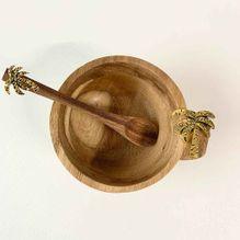 Dip Bowl & Spoon Set 15x11x6 PALM
