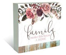 Plaque Block 40x40 Boho Dreams FAMILY