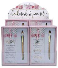Bookmark & Pen Set 12pc Blush Crush