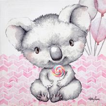 Canvas 20x20 Critters PINK